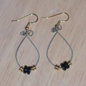 Black and Gold Dangle Earrings 39