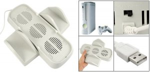 Built In Cooling Fan Vertical Disc Case Stand for Xbox 360 free shipping