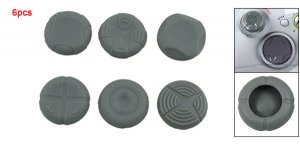 6PCS Gray Silicone Grip Case for XBOX 360 Controller free shipping