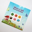 Button sticker for iphone/ipad/itouch free shipping