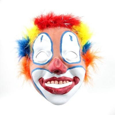 Halloween Party Rainbow Joker Circus Clown Juggler Mask free shipping