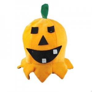 Orange Lovely Pumpkin Shaped Cap Sponge Hat Toy Decoration for Halloween  free shipping