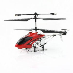 Rechargeable 3.5-Channel Infrared Mini Metal RC Helicopter Light-Red free shipping