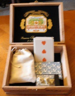 """Arturo Fuente Cigar Gaming box 7""""x6"""" x 2.25"""""""