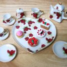 Porcelain Rosebud Tea set for American Girl 18 inch dolls