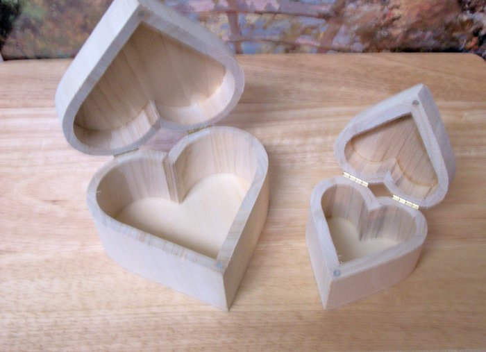 Unpainted Wooden Heart Set for American Girl 18 inch dolls