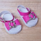 AMERICAN GIRL 18 INCH DOLL ACCESSORIES-HOT PINK DRESS SANDALS