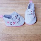 "PINK FLOWERED TENNIS SHOES AMERICAN GIRL 18"" DOLL CLOTHES"