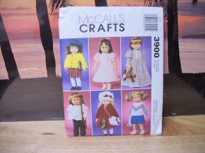 18 inch Doll Clothing Pattern fits American Girl Dolls-McCalls #3900