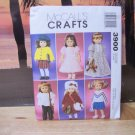 18 inch Doll Clothing Pattern fits American Girl Dolls-McCalls #3900