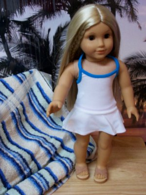 "AMERICAN GIRL 18"" DOLLS-WHITE BATHING SUIT"