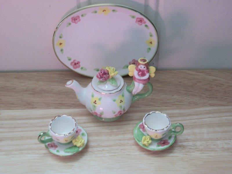 FAIRY TEA SET FOR AMERICAN GIRL 18 INCH DOLLS