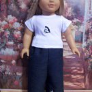 AMERICAN GIRL 18 INCH DOLL CLOTHES-PENGUIN EMBROIDERED JEANS SET