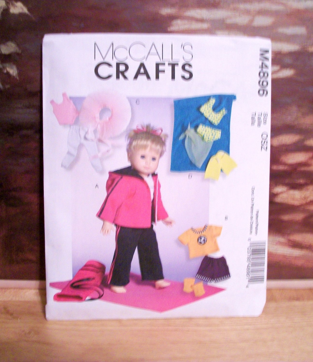 DOLL CLOTHES PATTERN FOR AMERICAN GIRL 18 INCH DOLLS-MCCALL'S #M4896
