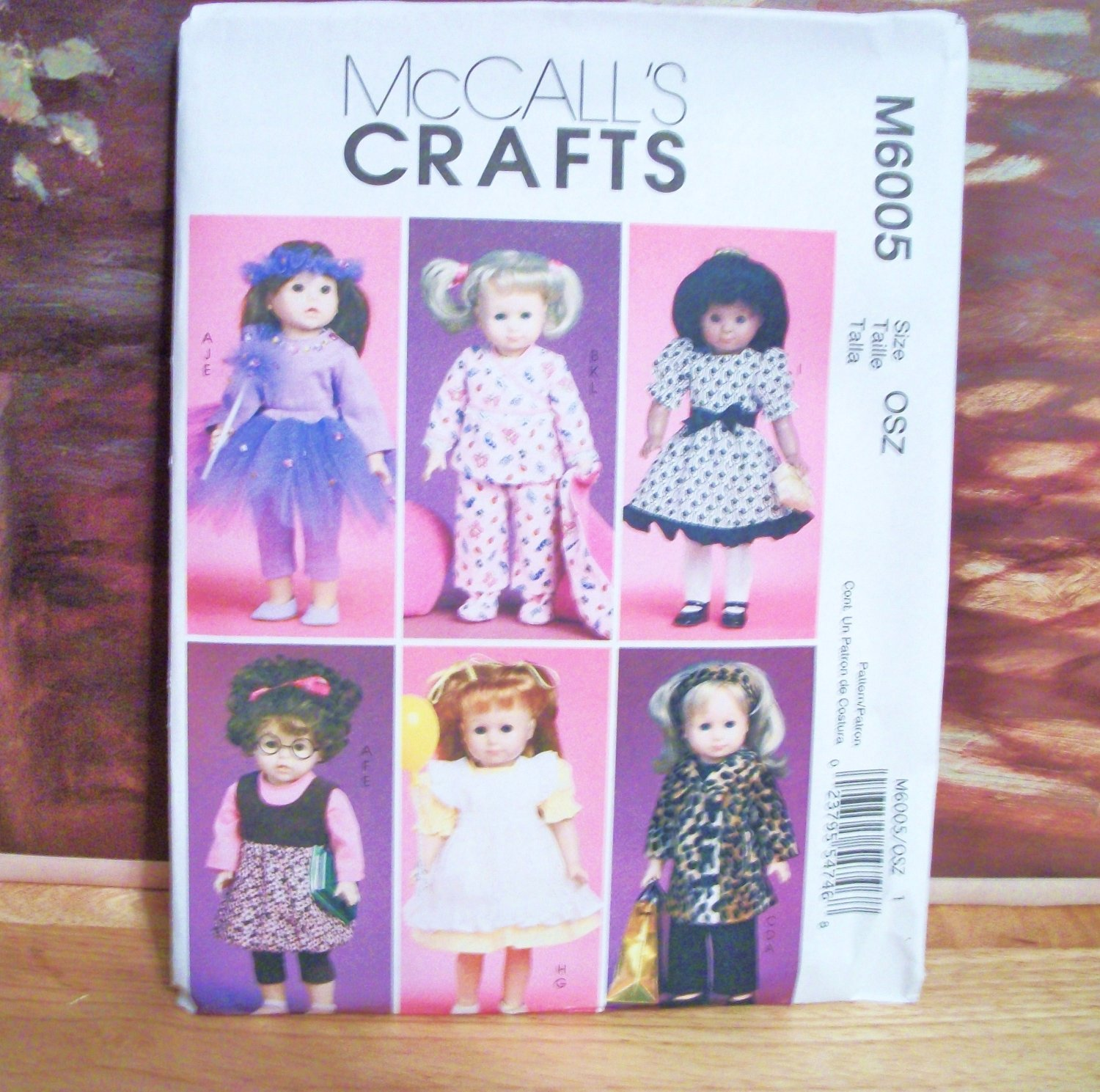 AMERICAN GIRL 18 INCH DOLL CLOTHES PATTERN-MCCALL'S #M6005