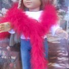 AMERICAN GIRL 18 INCH DOLL ACCESSORY-RED FEATHERED BOA