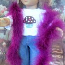AMERICAN GIRL 18 INCH DOLL ACCESSORY-BURGUNDY FEATHERED BOA