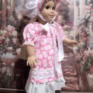 1812 STYLE DAISY DRESS FOR AMERICAN GIRL 18 INCH CAROLINE