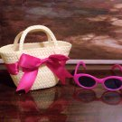 PURSE AND SUNGLASSES SET FOR AMERICAN GIRL 18 INCH DOLLS