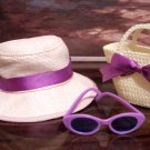 HAT, PURSE AND SUNGLASSES SET FOR AMERICAN GIRL 18 INCH DOLLS