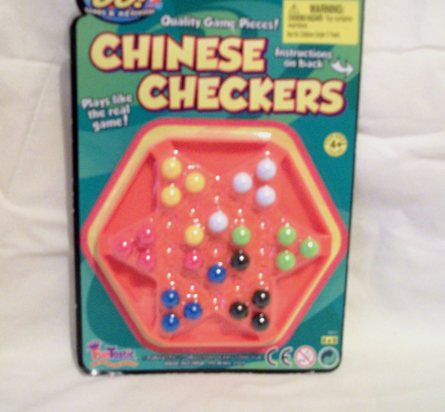 Orange Chinese Checkers for American Girl 18 inch dolls