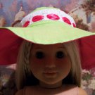 Lime and Pink Sun Hat Set for American Girl 18 inch dolls