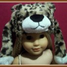 Cheeta Print Animal Fur Hat for American Girl 18 inch Dolls
