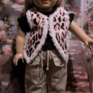 LEOPARD VEST FOR AMERICAN GIRL 18 INCH DOLLS