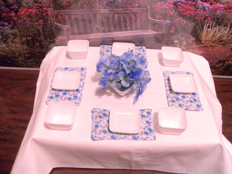 Blue themed Soup & Salad set for American Girl Dolls