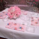 Pink Soup & Salad set for American Girl 18 inch dolls