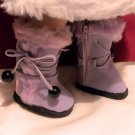 Lavender Fur Trimmed Boots for American Girl 18 inch dolls