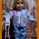 Blue Nurses Scrubs set For American Girl 18 inch dolls
