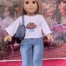 Cupcake Blue Denim Jeans Set for American Girl 18 inch dolls