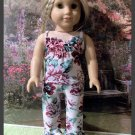 Flowered Crape PJ'S for American Girl 18 inch dolls