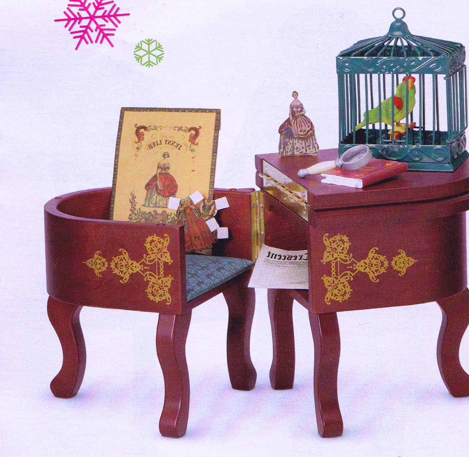 Authentic Parlor Desk & seat For American Girl 18 inch Dolls