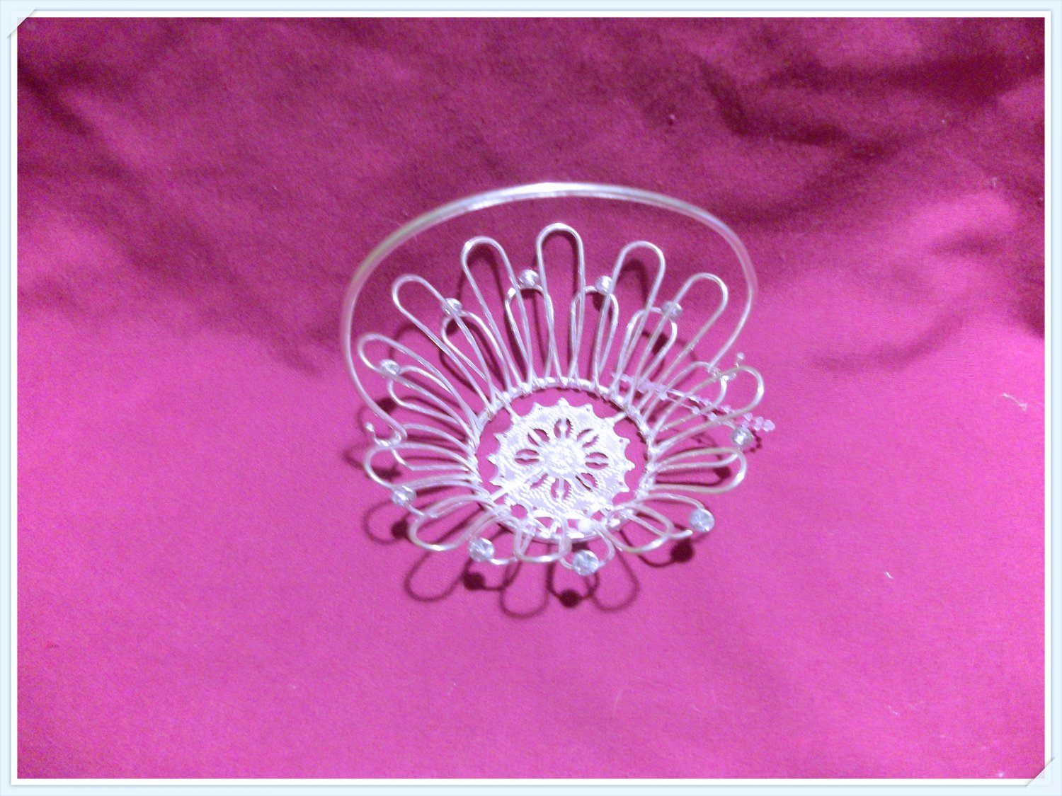 Silver Basket Centerpiece for American Girl 18 inch dolls