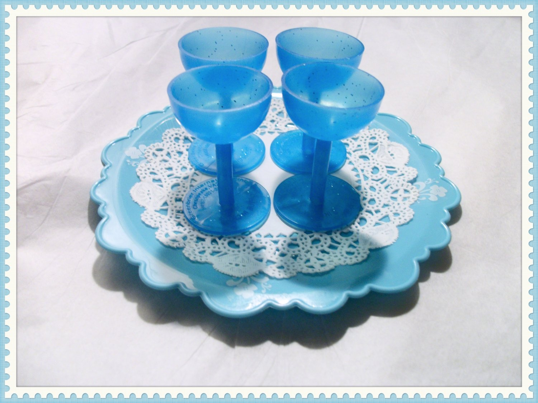 Blue Drinking Goblet set for American Girl 18 inch Dolls