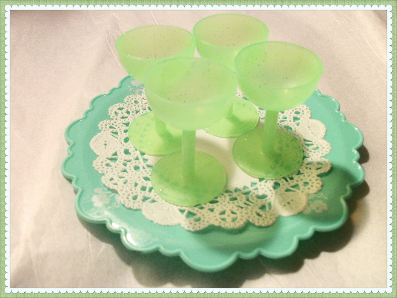 Green Drinking Goblet Set for American Girl 18 Inch Dolls