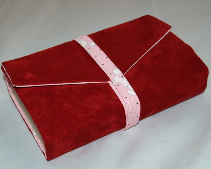 Red Suede Handmade Book Cover