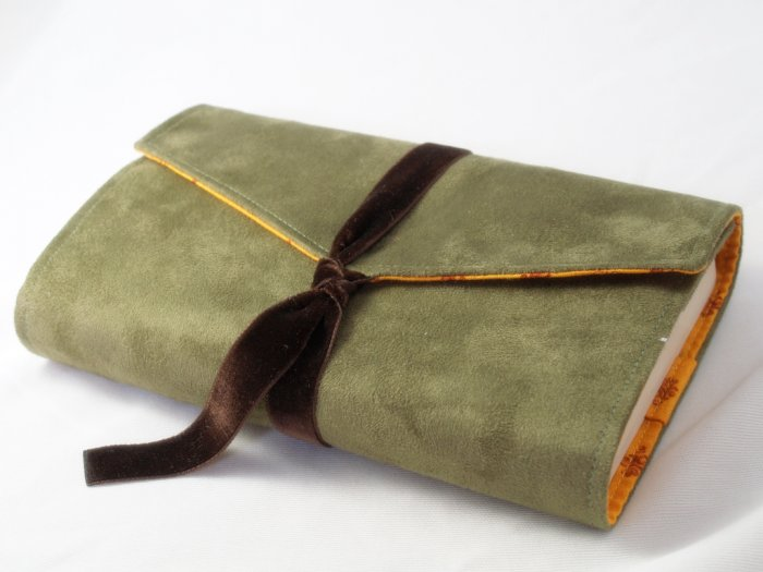 Green Suede Book Cover