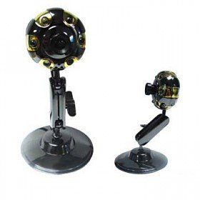 Adjustable Viewing Angle Cool Contexture PC Webcam 6 LED lights Driverless