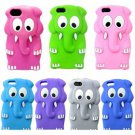 3D Animal Elephant Silicone Case Cover Skin for iPhone 5