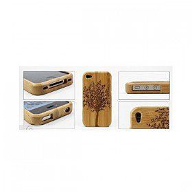 Bamboo / Wooden Protective Back Shell Case for iPhone 4 / 4S
