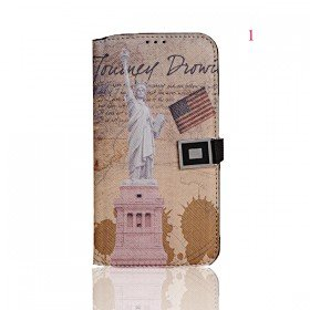 European and American Famous Building Pattern Leather Case Cover for Samsung Galaxy S4