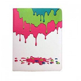 Vivid Ice Cream PU leather Flip Folio Case Cover with Stand for iPad 2 & 3