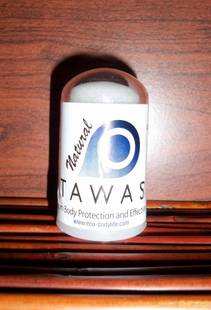TRIAL SIZE NATURAL TAWAS CRYSTAL DEODORANT STICK, 2.1 oz.