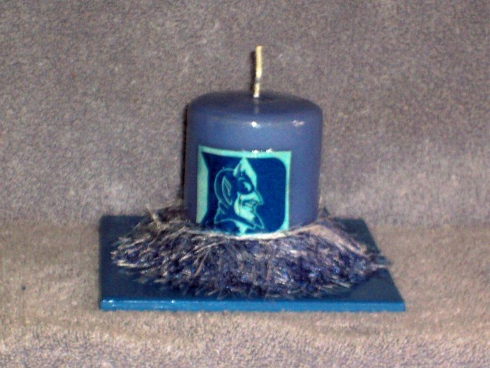 Duke University Hand Decorated Candle