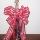 Lighted Bottle with Glass Beads
