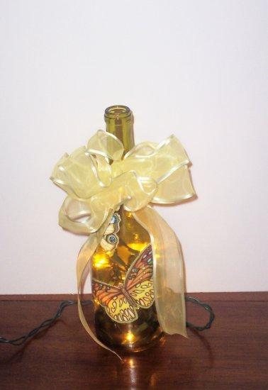 Butterfly Lighted Wine Bottle