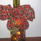 Festive Lighted Wine Bottle/Christmas Decoration